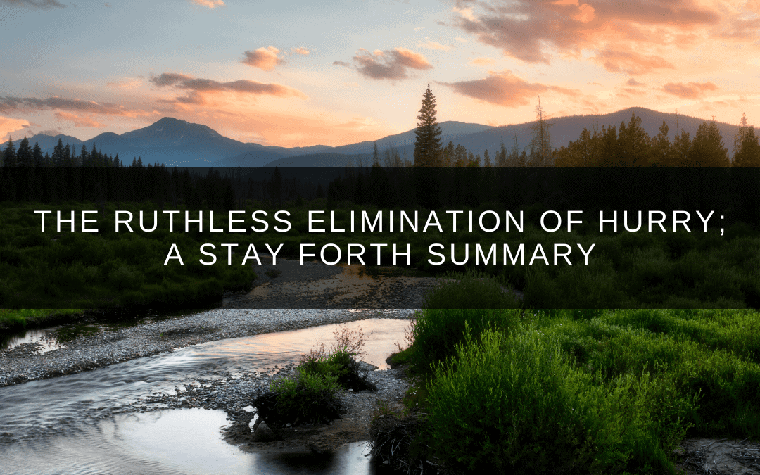 The Ruthless Elimination of Hurry; A Stay ForthSummary